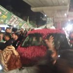 PMLN Leader Hamza Shehbaz Sharif Leading the huge Rally in NA 122 #VoteForPMLN #VoteForRoshanPakistan http://t.co/gEzSjFiQOK