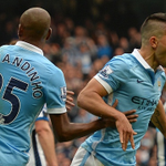 FIVE GOALS IN 23 MINUTES! Sergio Aguero take a bow. #mcfc 6-1 #nufc http://t.co/NoUhkykFoS http://t.co/TEQhwSa0Ky