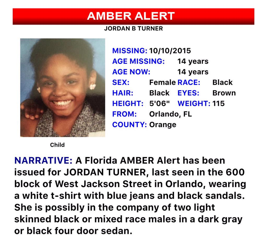 PLEASE RT: Police looking for missing Orlando teenager. She may have been abducted by 2 men. #wftv #JordanTurner http://t.co/tc3IzEyIyq