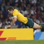 HOLY FOLEY! @Wallabies into #RWC2015 quarter-finals with 33-13 win over England - Bernard Foley with 28 points! http://t.co/0TzjP3JYwv