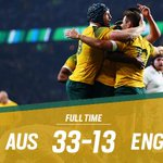 FT | THATS IT! The #Wallabies a have defeated @EnglandRugby 33-13! #ENGvAUS #StrongerAsOne http://t.co/Ytt2PT3y8y