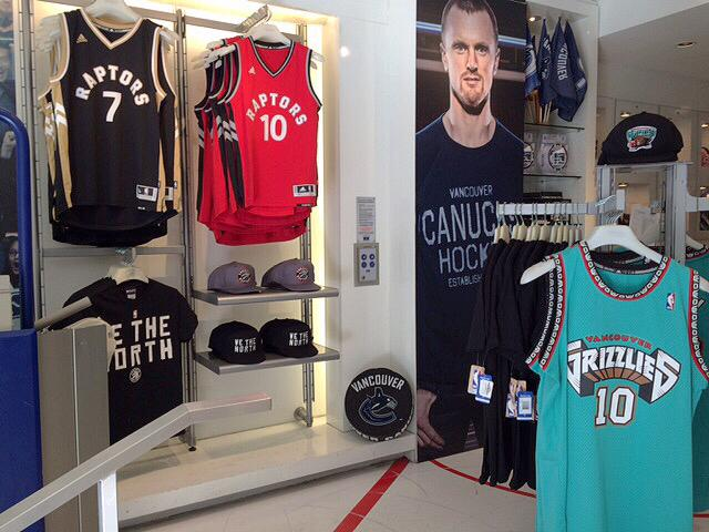 Canucks Team Store (@CanucksStore): Coming to the pre-season game at @RogersArena tomorrow? Visit our Robson store for some exclusive NBA merch.