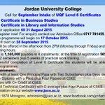 #October Intake of #Level6 of #Certificate Programmes #JUCO #Morogoro #Tanzania http://t.co/5GrMzoRMzi