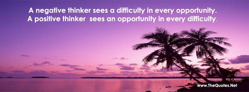 A negative thinker sees difficulty in every opportunity, positive thinker sees... https://t.co/C3neJ4vo5u https://t.co/Zd77Sz7djJ #QOTD