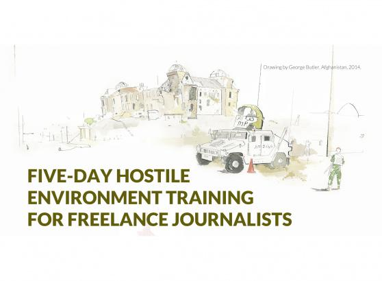 We're offering free hostile environment training for freelance journalists w. @Reuters. http://t.co/ZFnAqDVDtU http://t.co/t4dso2xaUS