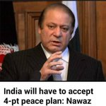 India will have to accept 4-pt peace plan: Nawaz http://t.co/PyCIqOY5pa http://t.co/Fg0Z6V7fuM