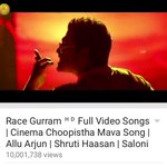 RT @harikiranroyal: A feat that is quite unheard of in TFI Cinema ChoopisthaMama song crossed 1 Crore views. @MusicThaman #ThankYouThaman h…