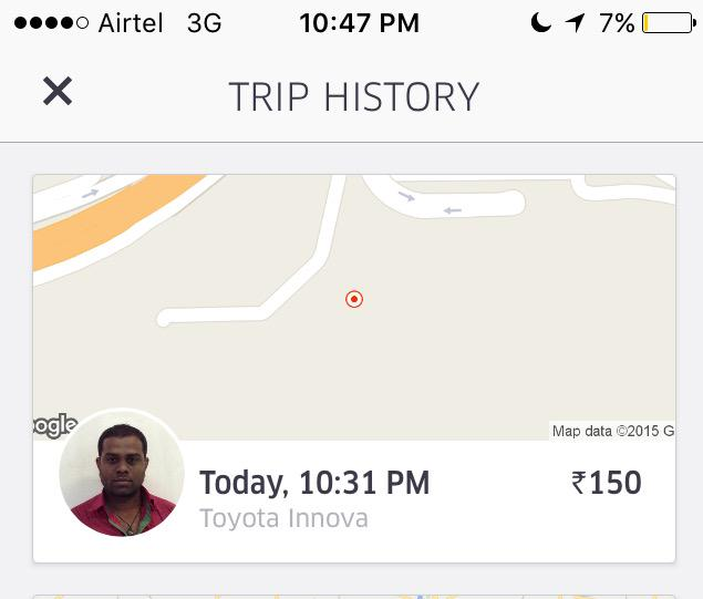 @ubermumbai Parvin innova driver was asking for Rs. 110 extra to come to pick us up at the airport @Uber http://t.co/up9LYN1ZDd