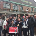 Big thanks 2 @Bill_Morneau @Glen4ONT and the team for coming out to canvass the @StLawrenceMkt this AM #SpaFY #elxn42 http://t.co/T8fj5DdM1K