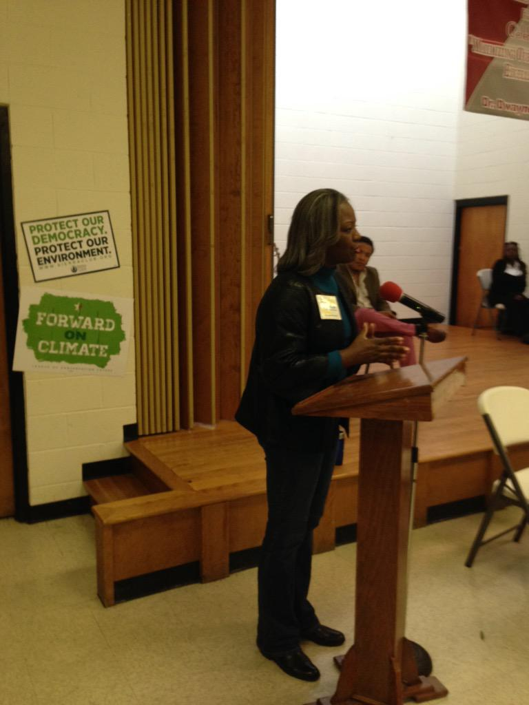 #cltclimatejustice #erikaellisstewart speaking out today for #cleanair http://t.co/TAf0BRhRWl