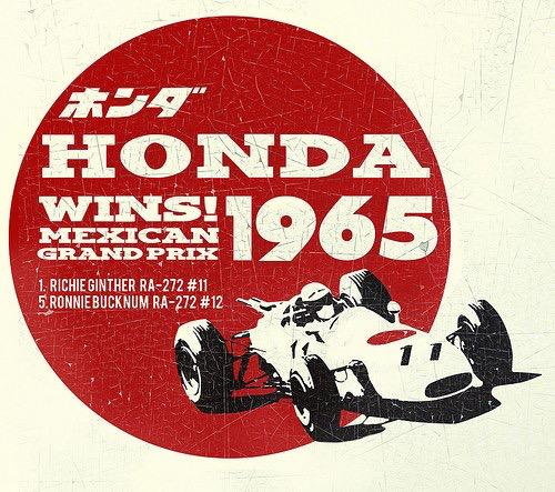 The Mexican GP organisers have just released some excellent retro race posters. Here's '65 and '67: http://t.co/My37UtWu1s