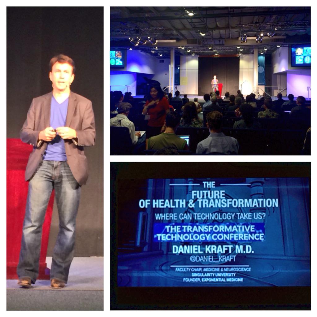 """Our behaviors are more impactful than our genetics"". @SingularityU medicine chair Dr @daniel_kraft #ttconf #hcsm http://t.co/ux7SoOUCbx"