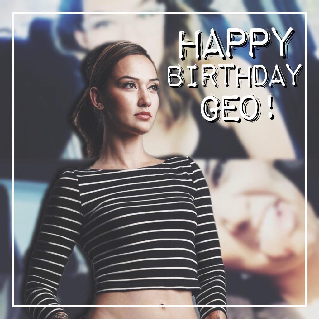 HAPPY BIRTHDAY @geo_antoinette!!