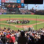 The ceremony. #sfgiants http://t.co/tbj7OEehLC