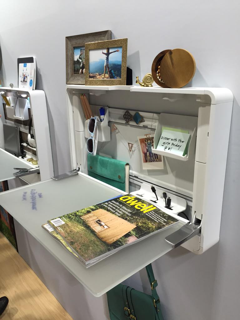 We love these home workplace solutions by @Ergotron, like this fold-down desk. #DODNY http://t.co/4YsuzKLesS