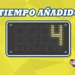 #TDA2015 | 2T 90 @DvoLaGuaira 0-2 @AraguaFC | Se jugará 4 minutos más en el Olímpico | #YoAmoAraguaFC http://t.co/3ay2ju3zEd
