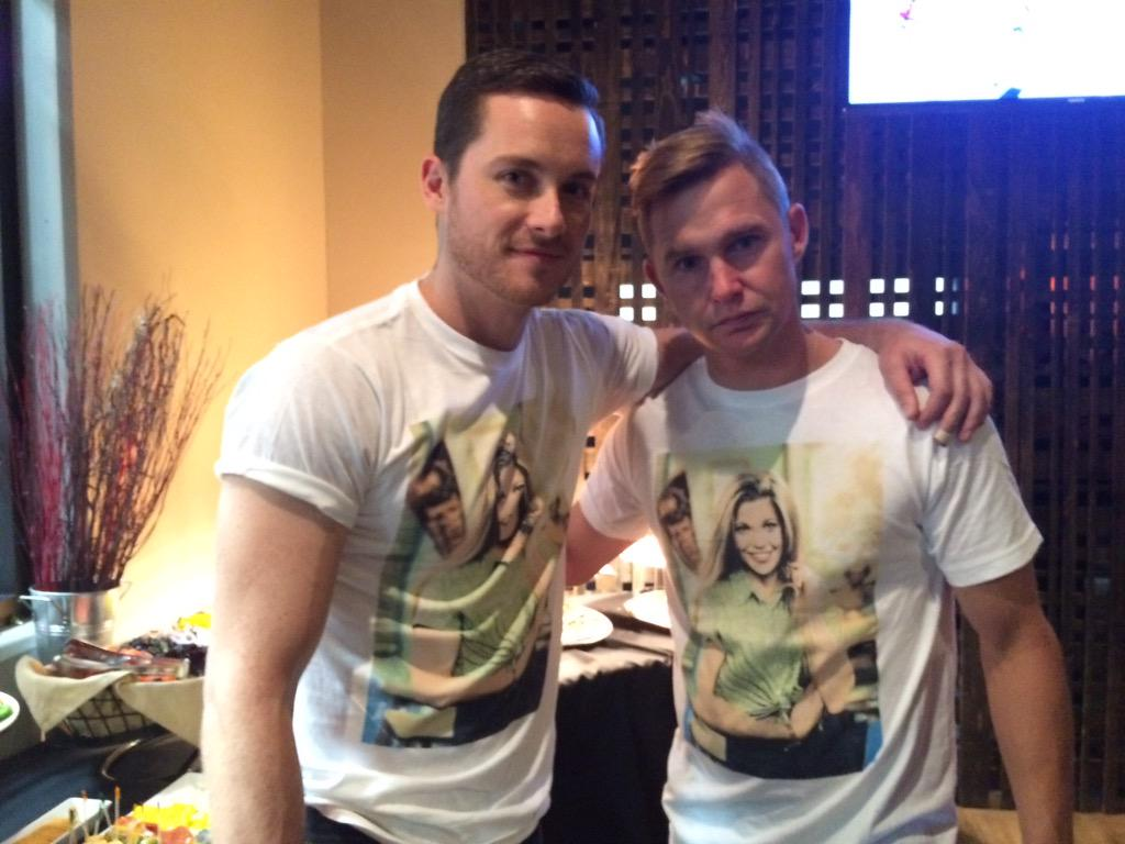 """""""Chicago PD"""" cast wore Topanga shirts at WhirlyCruz Cup b/c it was only shirt there were 9 of at Urban Outfitters. http://t.co/ny30jTLlgw"""