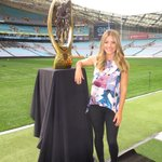 It weighs 43 Kgs so Im just going to stand next to it! #NRLGF @TheTodayShow @ANZStadium http://t.co/mWAXz7lhwH
