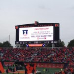 Proposing at an Illinois football game is a bold move, Richie http://t.co/LSrHaTVRpt
