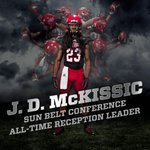 Congrats to J.D. McKissic on becoming the @SunBelt all-time receptions leader! #WolvesUp http://t.co/aPDqstuVaP
