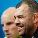Coach Cheika gives us a smile. #StrongerAsOne http://t.co/jBsW3VKNa7