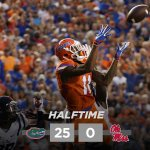 HALFTIME: #Gators 25, #Rebels 0 #MISSvsUF http://t.co/0M3FdQnlBo