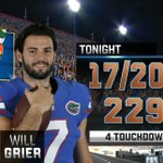 #25 UF is pounding #3 Ole Miss at half, 25-0. Will Grier is having a solid game. http://t.co/VbRy7Vzz6d #MISSvsUF http://t.co/gLPGTFLcUx
