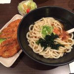 .@danprime got the udon meal with pork katsu & salad @NomiyaEllerslie. #yegfood #yeg http://t.co/15BMysDDCs