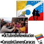 Camaradas.todos activados en las redes sociales con las etiquetas: #OctubreDeRevolución  y #CorazónLlaneroCaracas http://t.co/IrtO21ANid