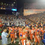 Have not seen an atmosphere like this down on field postgame in a long time...#Gators http://t.co/L7h6peLNmR