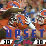 Game over in Gainesville - @GatorsFB completes the upset over No. 3 @OleMissFB. #MISSvsUF http://t.co/iOBMebYRB0