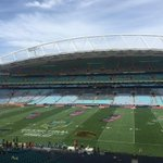 All set and ready to rumble in the #NRLGF @nthqldcowboys Vs @brisbanebroncos #bronxnation http://t.co/ivMbjmVcdy