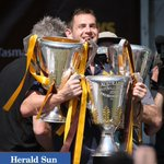 Luke Hodge three premierships in a row @superfooty @theheraldsun #Hawks #AFLGF http://t.co/79NjCHZTtf