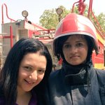 After a long day of fire drills,selfie time with #Pakistans 1st female firefighter. @BBCWorld http://t.co/VVIlgJsGhM http://t.co/mlUqDS8ywA
