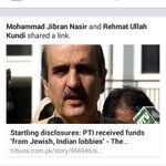 One of Founding Members of PTI claimed that the @PTIofficial received funds from #Jewish & #Indian Lobbies. #Shame http://t.co/qWByTAw0aR