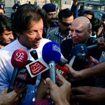 PTI Chairman @ImranKhanPTI talks to media upon arrival in Lahore. #چلو_چلو_ڈونگی_گراونڈ_چلو http://t.co/R0CLxYbOBZ