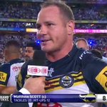 """I said to JT before he kicked it, no pressure buddy! Weve got this."" - Matthew Scott. #NRLGF #WWOS http://t.co/JojR6lf6a9"