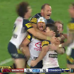JUST IN: Johnathan Thurston slots the field goal - @nthqldcowboys have won the #NRLGF 17-16 in golden point. #9News http://t.co/XE5rev36IS