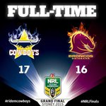 Congratulations to the @nthqldcowboys for winning the 2015 #NRLGrandFinal #WWEAustralia http://t.co/9ay3LhMNUr