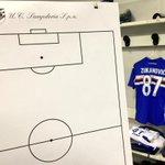 Spogliatoio pronto. Un unico grido: #SololaSampdoria! #SampInter. @SerieA_TIM http://t.co/I2BVQt8js7