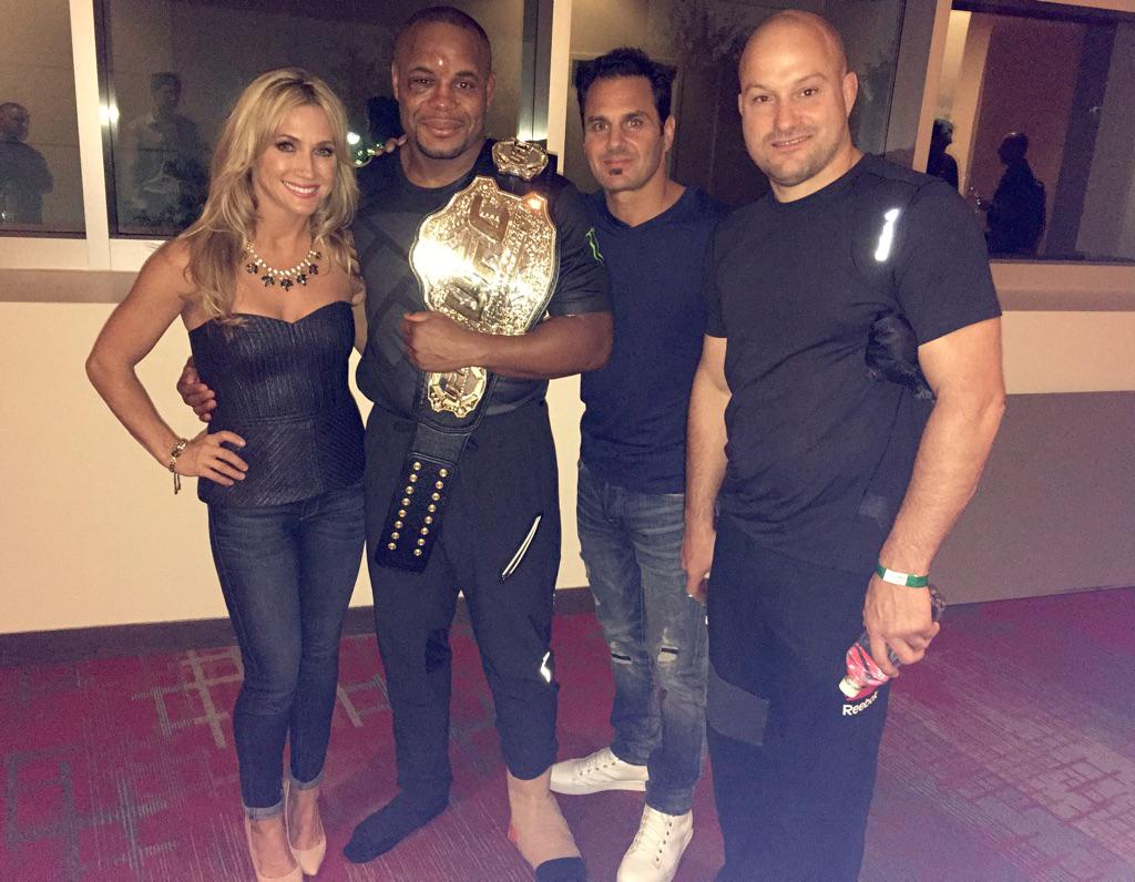 Love our #Champ @dc_mma ! True champion #UFC192 #TeamZinkin #AndStill http://t.co/eX46Mvtzm9