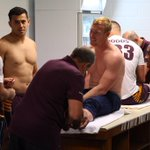 Preparations quickly underway in the sheds. How are you preparing? #NRLGF #NRLBroncosCowboys http://t.co/WbjUJXphds