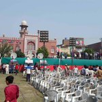 Pictures from the jalsa gah. Thank you @NidoPTI #چلو_چلو_ڈونگی_گراونڈ_چلو http://t.co/vO3spEHGBJ
