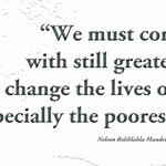 """We must continue, with still greater speed, to change the lives of our people, especially the poorest of the poor"" http://t.co/mRyfRKVjh9"