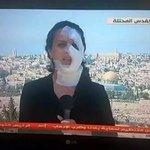 المراسلة هناء محاميد تستكمل عملها بعد تعرضها للاستهداف من قبل قوات الاحتلال  #كل_الإحترام http://t.co/cC2LBpaZg1