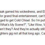 Just saw Chisel perform at NRL grand final. On that note, heres an excerpt from tomorrows column ... http://t.co/5zzLz6dI8h