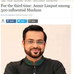#TheExpTribune: For the third time: @AamirLiaquat among 500 influential Muslims http://t.co/HtyA9bylOc @Alyimam http://t.co/hXS9oe77Gr