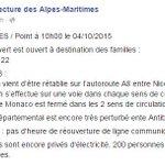 La Préfecture des #AlpesMaritimes annonce louverture dun numéro vert à destination des familles >> 04 93 72 22 22 http://t.co/l5qdfMrVoY
