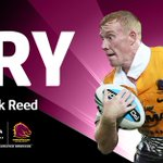 TRY Reed. Great work Gillett to pick up the loose ball and turn and poke through the defence. Broncos 12 ktc http://t.co/YeyIZwD7n0