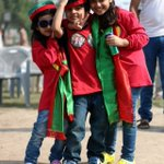 Kids with their eyes full of hope alreafy gathered at Jalsa Gah. #چلو_چلو_ڈونگی_گراونڈ_چلو http://t.co/2VoNwEwPXl